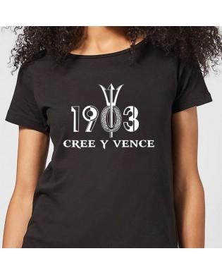 "Camiseta chica ""CREE Y VENCE"""