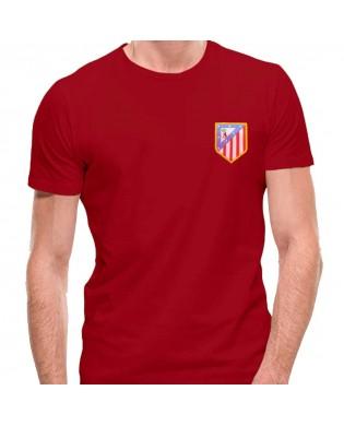 Camiseta Escudo Atleti Bordado
