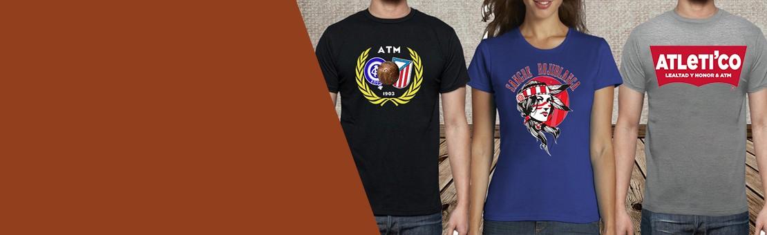 Camisetas ATM-Diseños rojiblancos
