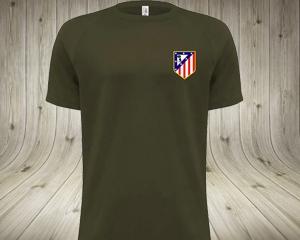 Camiseta caqui escudo Atleti